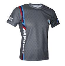 BMW M Power Logo Motorsport Gray handmade high quality graphics men's t-shirt