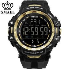 SMAEL Men Digital Watch Fashion Big Face LED Sport Watches Shockproof Wristwatch