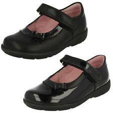Girls Black Leather / Patent Riptape Startrite School Shoes Maria (2)