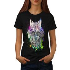 Tribal Funky Death Skull Women T-shirt S-2XL NEW | Wellcoda