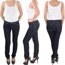 Damen Röhren Skinny Röhrenjeans Stretch Hüft Jeans Hose bis Übergröße