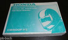 Uso E Manutenzione Instruktieboek Honda CB 600 F II Manual Del Propietario 2000