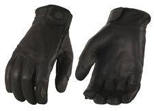 Men's Premium Leather Gloves w/ Led Finger Lights w/ Touch Screen Fingers MG7599