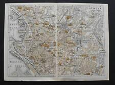 Antica Stampa=Topografica=GENOVA =Scala1:10000 -1909c.