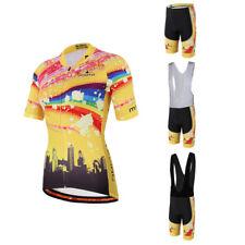 Womens Cycle Clothing Ladies Padded Cycling (Bib) Shorts & Bike Jersey Set S-5XL