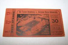 OCT 30 1971 NCAA basketball ticket AIR FORCE vs ARIZ ST