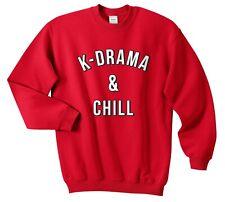 K-Drama & Chill Jumper Sweatshirt Funny Christmas Kawaii Gift Kdrama Kpop Fan