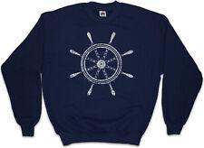 OLDSCHOOL NAUTICAL WHEEL I Sweatshirt Pullover Tattoo Anker Anchor Star Sailor