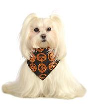 Glitter Pumpkin Pet Dog Cat Halloween Bandana Scarf Collar