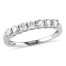 Amour 10k White Gold 1/2 Ct TW Diamond Anniversary Ring H-I I2-I3