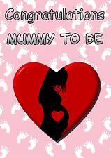 A5 Personalizzata Mamma a essere BABY congratulazioni CARD pidmtb1