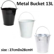 13L Metal Pails Tin Buckets Wedding Party Favours candle Bombonieres 27cmx28cmH