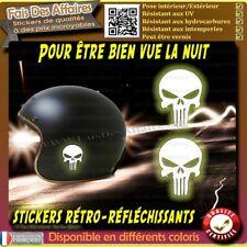 Sticker Autocollant punisher rétro réfléchissants casque moto