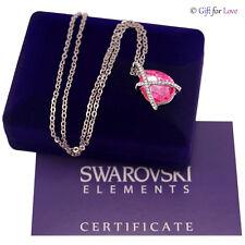 Collana oro bianco Swarovski Elements originale G4Love cristallo goccia elegante