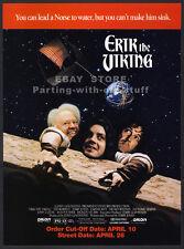ERIK THE VIKING__Original 1990 Trade AD movie promo__JOHN CLEESE__TIM ROBBINS