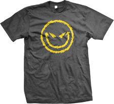 Evil Smiley Face Emoticon Grin Funny Novelty Biker Sarcasm Gothic Mens T-shirt