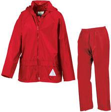 Risultato per Bambini Ragazzi Ragazze Giacca Impermeabile E Pantaloni Pioggia Suit + Bag-Rosso