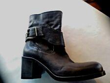 FRU.IT boots cuir noir NEUVE Valeur 299E talon 5cm Pointures 38,39.5