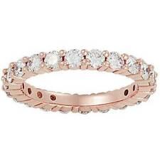 2ct Diamond Eternity Ring 14K Rose Gold Womens Wedding Anniversary Band
