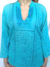 maglie, magliette manica 3/4 con paillette cucite 100% cotone*