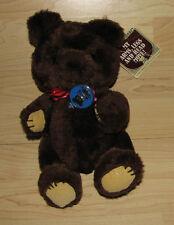 "1981 Dakin Dark Brown Theodore Teddy Bear Fully Jointed Plush Toy 10"" w/tags"