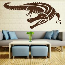Sticker Décoration Murale ou Voiture Animal Crocodile (10x22 cm à 30x66 cm)