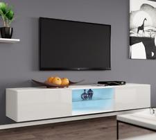 TV-Schrank Lucas Glass LED TV-Kommode Lowboard Hängeschrank Farbauswahl Hängend