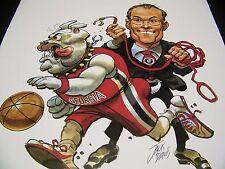 Georgia Bulldogs Football 2009 Jack Davis Mark Fox Basketball Dawg artwork print
