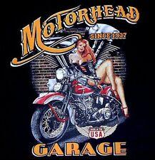 MOTORHEAD GARAGE SINCE MOTORCYCLE BIKER V TWIN SEXY GIRL SWEATSHIRT W560