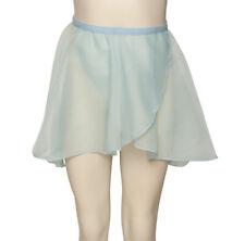 Girls Ladies Pale Blue Dance Ballet Georgette Wrap Over By Katz Dancewear KDGS01