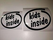 KIDS INSIDE Decal Sticker Baby On Board JDM VTEC Turbo Boost Drift GTi TDi VW