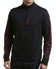 SPYDER Breaker Mid Layer T Neck 1/4 Zip Shirt Black Red Grey New Mens Sz S M XL