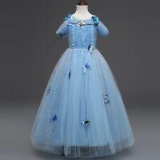 Flower Girls Kids Butterfly Princess Elsa Party Wedding Bridesmaid Pageant Dress
