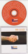 In 2une Music - February 2010 Featured Music - Rare Radio Promo CD - 1205