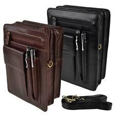 Mens Leather Travel Cross Body Waist BAG by Golunski with Long STRAP Manbag
