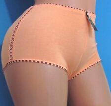 ROSE Pink Blue Black Cotton Embroidered boy shorts sissy bikini panties Sz M L
