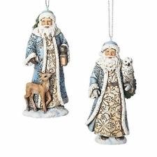 Blue Santa w/Deer or Owl Ornament