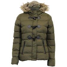 Ladies Jacket Brave Soul Womens Coat Hoodie Padded Puffer Fur Toggle Zip Winter