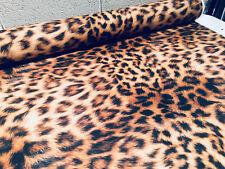 Estampado Animal Leopardo Tejido Pantera Piel Cortina de Algodón Material -140cm