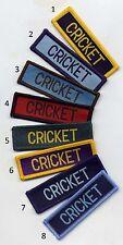 Cricket School Sports Flash Badge Patch 7.3 x 2.3cm