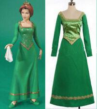Halloween Costume Shrek Princess Fiona green Dress Princess Cosplay#
