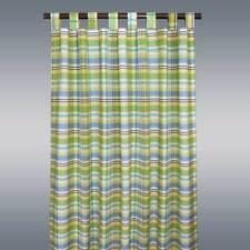 Landhaus-Schlaufenschal Drive grün kariert Deko-Vorhang mit 8 Schlaufen