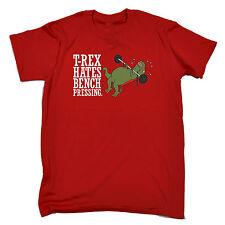 T-REX ODIA premendo Bench Da Uomo T Shirt Compleanno Dinosauro Dino Carino Divertente Regalo