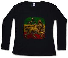 LION OF JUDAH III WOMEN LONG SLEEVE T-SHIRT Bob Rasta Marley Jamaica Rastafari