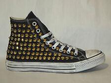 Converse all star Hi borchie ORO scarpe donna uomo nero ARTIGIANALI