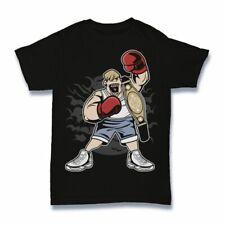 Fat boxer Tshirt funny  boxing cartoon S-3XL