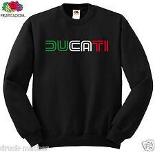 Sweat Shirt Ducati Tricolore Classic-S - 3xl Sérigraphie DESMO Monstre pointés