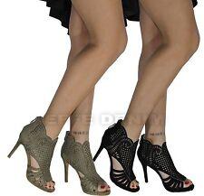 Scarpe Donna eleganti Sandali Traforati decoltè Tacco Alto spuntate sexy 335
