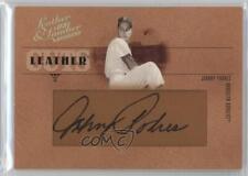 2005 Donruss Leather & Lumber Cuts #LC-14 Johnny Podres Brooklyn Dodgers Auto