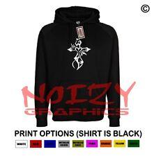 Cross #1 Cute Christian Hoodie Black Sweatshirt Jesus Religious Worship Heart